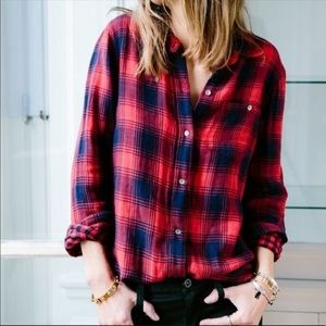Madewell flannel ex boyfriend plaid button down